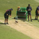 The MCG pitch was inspected on Saturday and again on Sunday morning.