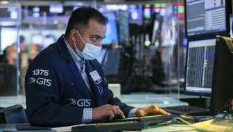Trader Dilip Patels on the floor of the New York Stock Exchange on Wednesday. The tick up in bond yields has rattled investors.