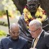 'Namaste': PM praises multiculturalism as Indian president honours Gandhi