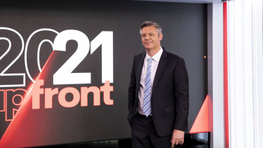Seven West Media boss James Warburton flagged further cost savings as the company posted a profit.