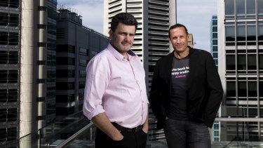 Xinja CEO Eric Wilson and board director Thomas Vikstrom.