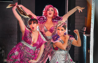 Glittery Clittery is an all-singing, all-dancing explosive comedy cabaret starring Laura Frew, Tessa Waters and Rowena Hutson.