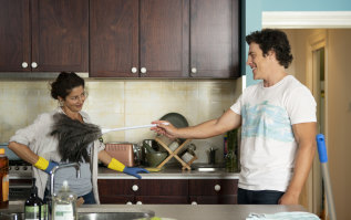 It's complicated: Heather (Doris Younane) and Ben (Stephen Peacocke) have an undeniable attraction in Five Bedrooms.