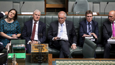Prime Minister Scott Morrison before losing the vote on Tuesday night.