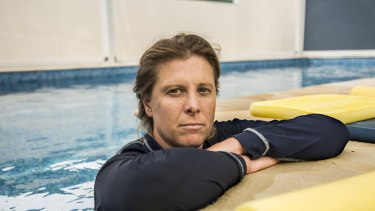 Juliet Sharpe is one of the franchisees who paid money to Jump but has not had a swimming pool built.