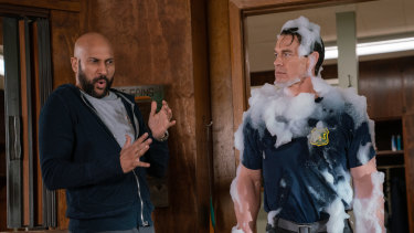 Keegan-Michael Key and John Cena star in Playing with Fire but the film is let down by a wet blanket of a script.