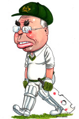A jubilant John Howard joked about his cricketing prowess at his birthday bash.