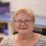 She's a fan: Lily Mardesic, a ward clerk of Footscray hospital ward 3B enjoys the violin music.