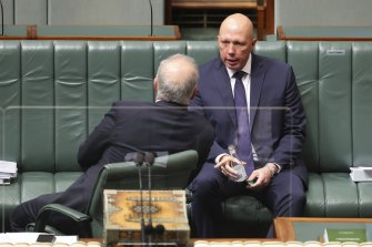Defence Minister Peter Dutton in Parliament on Monday.