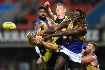 Nic Naitanui is a focus of the new Amazon documentary Making Their Mark, which starts Friday.
