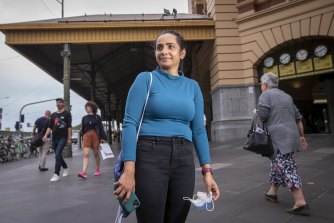 Madhu Choubey said her tram was empty early on Monday morning.