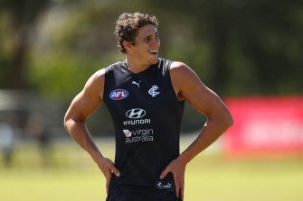 Charlie Curnow is set to return to competitive football through the VFL this weekend.