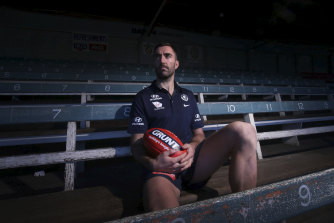 Carlton's Kade Simpson is hanging up the boots.