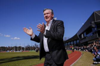 Collingwood has rejected the approach by president Eddie McGuire's media company.