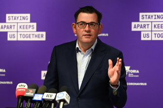 Premier Daniel Andrews is hopeful Victoria is past its second peak of coronavirus infections.