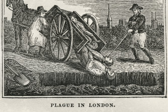 A depiction of the 1665-66 plague in London. Fleas in a bolt of cloth from the metropolis are believed to have brought the disease to Eyam.
