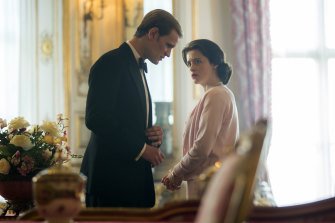 Matt Smith as Prince Philip and Claire Foy as Queen Elizabeth II in The Crown.