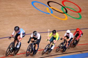 Annette Edmondson, centre, has probably ridden at her last Olympics.