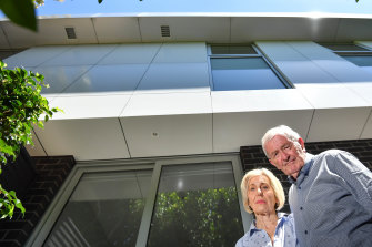 Cladding rectification work at this Williams Road, South Yarra apartment block cost owners $80,000 each according to Jennifer and Kevin Opie.
