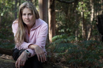 Shelley Beverley, victime des mitochondries, chez elle en Tasmanie.