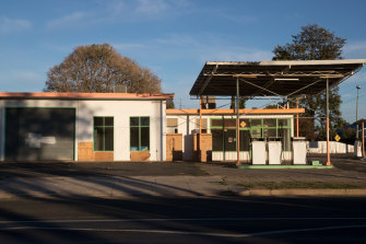 A disused service station in Walgett. Some towns are now facing an existential crisis.