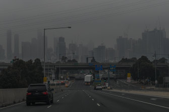 At 10am on Friday Melbourne sat under a thick blanket of smog.