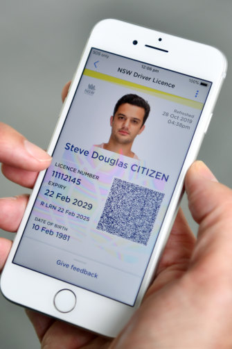 The NSW digital licence wanted access to lots of parts of your phone.