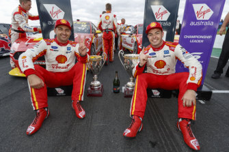 Fabian Coulthard and Scott McLaughlin.