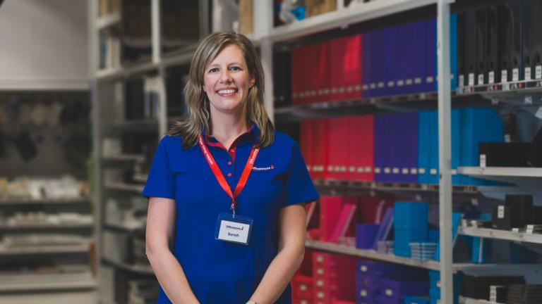 Officeworks managing director Sarah Hunter.