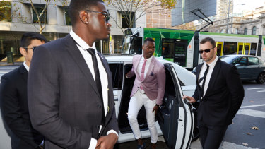 Nelly Yoa made a bit of an entrance when he arrived at court last week.