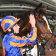 Ryan Moore pats Magic Wand after winning the Seppelt Mackinnon Stakes at Flemington on Saturday.