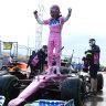 Stroll ends Mercedes' streak with shock pole in Turkey