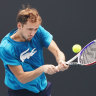 Ready to challenge: Medvedev honoured by McEnroe praise