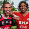 Like father, like son: Wanderers star's touching tribute to former Steelers star dad