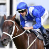 One to go: Winx continued her winning streak with a fourth win in  the George Ryder Stakes at Rosehill on Saturday