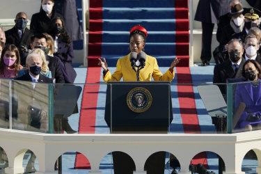 American poet Amanda Gorman during the inauguration ceremony Joe Biden last week.