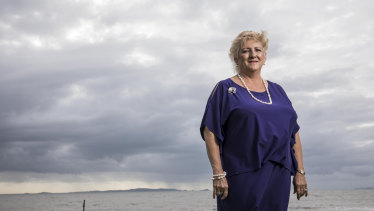 Coalition MP Michelle Landry at the Yeppoon lagoon in her highly marginal seat of Capricornia.