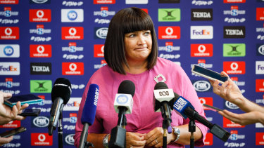 Raelene Castle and Rugby Australia have been talking tough about negotiations with broadcaster Fox Sports.