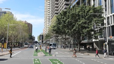 A render of the cycleway on Liverpool Street.