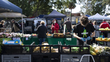 The re-opening of farmers' markets across Sydney suggests concerns about COVID-19 have eased.
