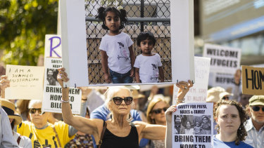A rally in Brisbane calling for the family to stay in Australia.