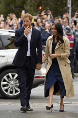 Meghan, Duchess of Sussex, in the Martin Grant trench coat that's an Australian cult item.