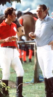 Lord Vestey with friend Prince Charles at Cirencester Polo Club, date unknown.