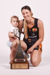 Mikhaela Donnelly with daughter Adisyn.