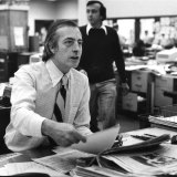 The journalist Max McCrohon , circa 1980.