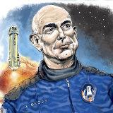Jeff Bezos and the New Shepard rocket.