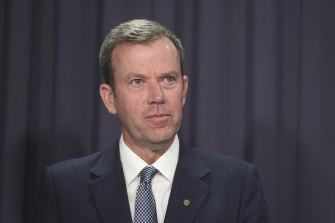 Trade Minister Dan Tehan has talked up the federal government's existing support for Victorians.