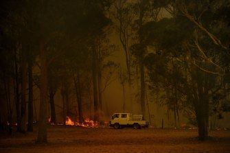 Authorities on the South Coast are urging tourists to delay travel if possible ahead of worsening fire conditions on Friday.