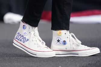 A pair of Kamala Harris' Converse ... but do they belong on Vogue?