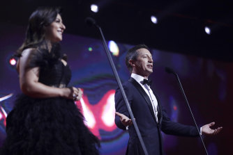 Susie Youssef and Rove McManus hosted the AACTA Awards film ceremony.